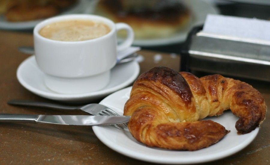 Croissant and cafe