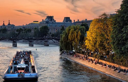 Bateaux Mouches on the Seine, Paris