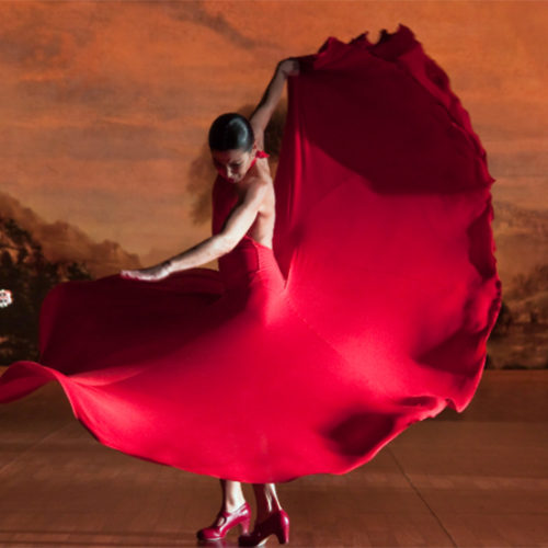 Andalusian flamenco dancer