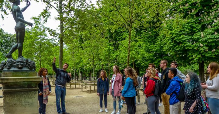 French Exchange in Luxembourg Gardens
