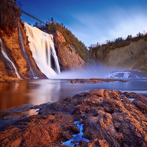 Montmorency Falls Quebec Canada Shutterstock