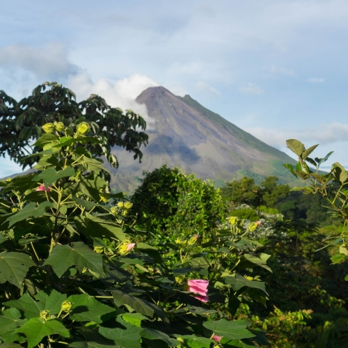 Volcano Arenal - Costa Rica with rainforest in front