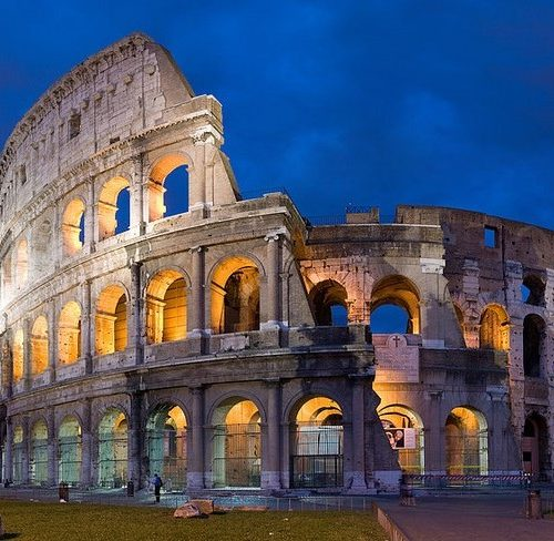 Greece-and-Italy-for-Latin-students-Rome-Coloseum-night-outside